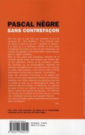 Sans contrefaçon - 4ème de couverture - Format classique
