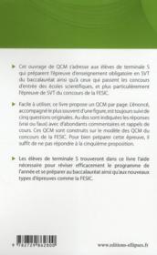 220 QCM de SVT ; terminale S & concours Fesic ; enseignement obligatoire - 4ème de couverture - Format classique