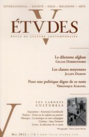 Revue Etudes ; Mai 2012 - Couverture - Format classique