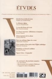 Revue Etudes ; Mai 2012 - 4ème de couverture - Format classique