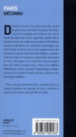 Paris méconnu - 4ème de couverture - Format classique