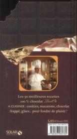 Lindt à cuisiner ; l'universel ; les 30 meilleures recettes 100 % chocolat Lindt - 4ème de couverture - Format classique