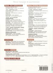 REVUE FRANCAISE DE PSYCHANALYSE N.77/2 ; finir l'adolescence - 4ème de couverture - Format classique