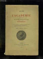 Actes De L Academie Nationale Des Sciences, Belles Lettres Et Arts De Bordeaux. Tome Iv 1920 - 1921. - Couverture - Format classique