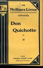 Don Quichotte. Tome 3. Collection : Les Meilleurs Livres N° 31. - Couverture - Format classique