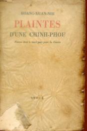 Plaintes D'Une Chinh-Phou - Femme Dont Le Mari Part Pour La Guerre. - Couverture - Format classique