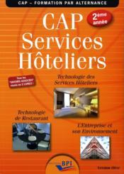 Cap services hoteliers 2eme annee - version eleve - Couverture - Format classique