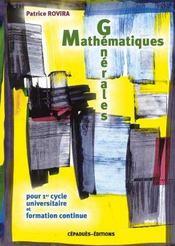 Mathematiques Generales - Intérieur - Format classique