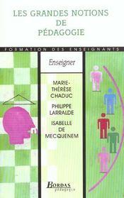 Grandes notions de pedagogie - Intérieur - Format classique