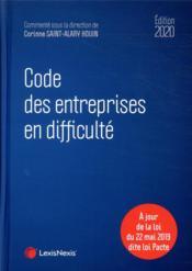 Code des entreprises en difficulté (édition 2020) - Couverture - Format classique