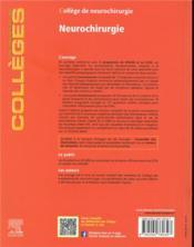 Neurochirurgie (2e édition) - 4ème de couverture - Format classique