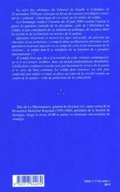 Metier de soldat (le) - 4ème de couverture - Format classique
