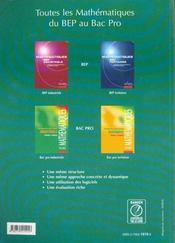 Physique Bac Pro Maintenance D P I - 4ème de couverture - Format classique