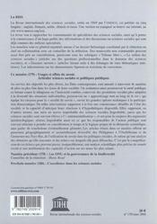 Riss N.179 - 4ème de couverture - Format classique