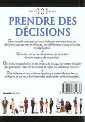 Prendre des decisions - 4ème de couverture - Format classique