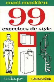 99 exercices de style - Intérieur - Format classique