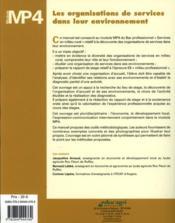 Les organisations de service dans leur environnement : module mp4 - Couverture - Format classique