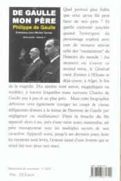 De Gaulle, mon père t.1 2e partie - 4ème de couverture - Format classique