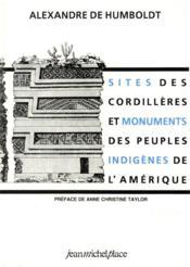 Sites des cordillères et monuments des peuples indigènes de l'Amérique - Couverture - Format classique