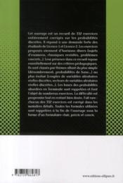 Probabilités discrètes ; licence 1 et 2 ; recueil d'exercices corrigés - 4ème de couverture - Format classique