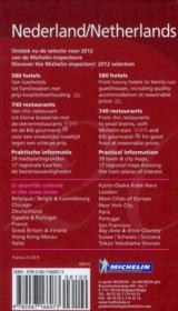 GUIDE ROUGE ; Nederland ; hotels & restaurants (édition 2012) - 4ème de couverture - Format classique