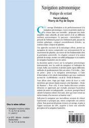 Navigation Astronomique ; Pratique Du Sextant - 4ème de couverture - Format classique