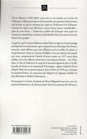 La lionne de Belfort ; le fou de Malicorne ; le magasin de chapeaux - 4ème de couverture - Format classique