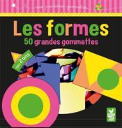GOMMETTES ; formes fluo ; 50 grandes gommettes - Couverture - Format classique