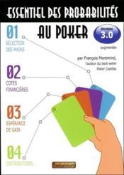 Essentiel des probabilités au poker ; version 3.0 - Couverture - Format classique