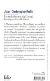 Les énigmes d'Aurel le consul T.2 ; les trois femmes du consul - 4ème de couverture - Format classique