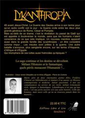 Lykanthropia tome 3 - une guerre si vile - 4ème de couverture - Format classique