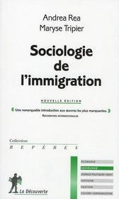 Sociologie de l'immigration - Intérieur - Format classique