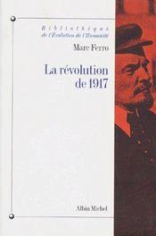 La révolution de 1917 - Couverture - Format classique