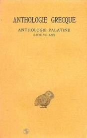 Anthologie grecque t.4 ; L7 - Couverture - Format classique