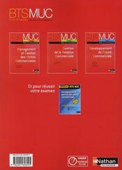 Gestion de la relation commerciale ; bts MUC ; par la pratique ; élève (édition 2008) - 4ème de couverture - Format classique