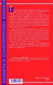 Strategies De Croissance Pour L'Entreprise - 4ème de couverture - Format classique