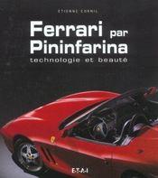 Ferrari Par Pininfarina Technologie Et Beaute - Intérieur - Format classique
