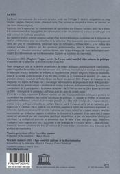 Riss N.182 ; Explorer L'Espace Ouvert, Le Forum Social Mondial Et Les Cultures Du Politique - 4ème de couverture - Format classique