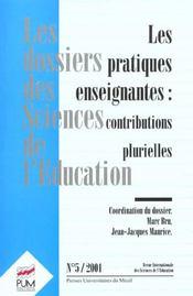 Pratiques enseignantes - Intérieur - Format classique