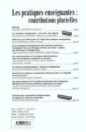 Pratiques Enseignantes - 4ème de couverture - Format classique