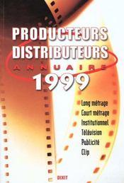L'Annuaire Des Producteurs Et Des Distributeurs 1999 - Intérieur - Format classique