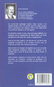 MARY LESTER T.17 ; la régate du Saint-Philibert - 4ème de couverture - Format classique
