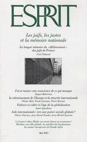 Revue Esprit ; Les Juifs, Les Justes Et La Mémoire Nationale - Intérieur - Format classique