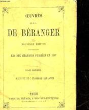 Oeuvres De P. J. De Beranger - Tome Premier - Couverture - Format classique