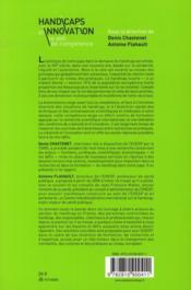 Handicaps et innovation ; le défi de compétence - 4ème de couverture - Format classique