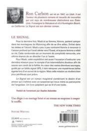 Le signal - 4ème de couverture - Format classique