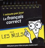 1 minute par jour ; le français correct pour les nuls - Couverture - Format classique