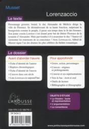 Lorenzaccio - 4ème de couverture - Format classique
