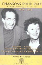 Chansons Pour Piaf ; Norbert Glanzberg, Toute Une Vie - Intérieur - Format classique