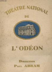 Programme - Theatre National De L'Odeon - Couverture - Format classique